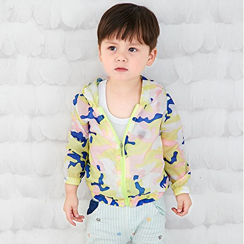 Nicoandy Camouflage Children's Sun Protection Clothing Long-Sleeved Thin Jacket Summer