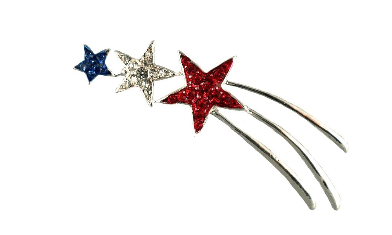 cheap Patriotic Shooting Star Brooch/Pin