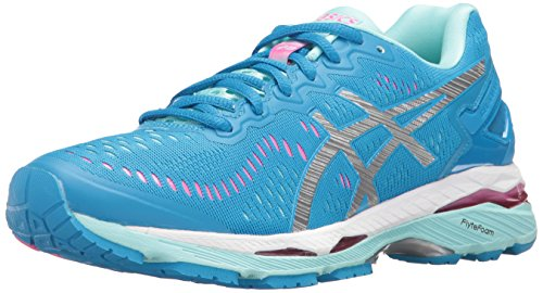ASICS Women's Gel-Kayano 23 Running Shoe, Diva Blue/Silver/Aqua Splash, 8 M US