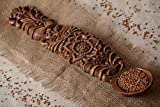 large wooden spoon wall decor - Large Handmade Wall Hanging Spoon With Fancy Art Carving In Ethnic Style