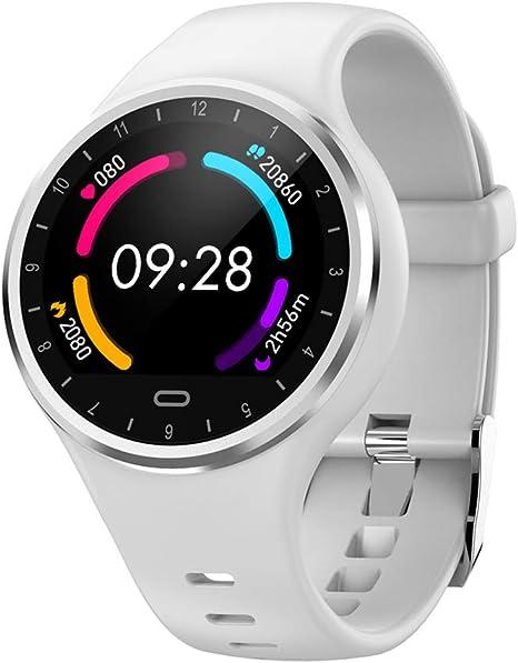 Reloj Inteligente Hombre Mujer, SoloKing Pulsera Actividad con Pulsómetros,Presión Arterial,Monitor de Sueño,Podómetro,Contador de Calorías,Notificación de Llamadas/SMS/Whatsapp(blanco): Amazon.es: Deportes y aire libre