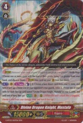 Cardfight!! Vanguard TCG - Divine Dragon Knight, Mustafa (G-BT03/007EN) - G Booster Set 3: Sovereign Star Dragon by Cardfight!! Vanguard TCG Bushiroad Inc.