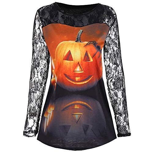 Clearance Sale! Wintialy Fashion Women Halloween Lace Pumpkin