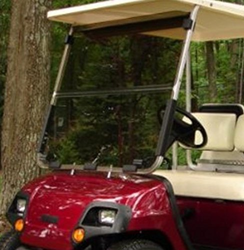 (Yamaha G14 G16 G19 Tinted Fold Down Impact Resistant Windshield for Yamaha G14-19 Golf Cart)