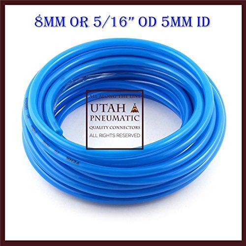 Utah Pneumatic 8mm Od 5mm Id10 Meters PU Air Tubing Pipe Hose Nylon Air Hose For Air Line Tubing Or Fluid Transfer pneumatic tubing (Nylon Tube 8mm)