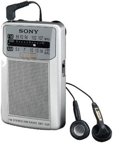 Sony SRFS26S - Radio portátil Am/FM, Plateado