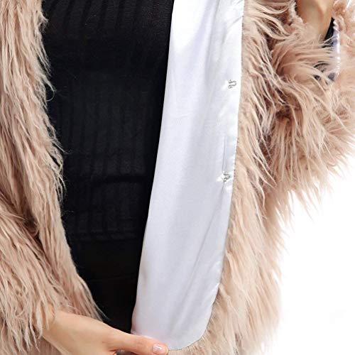 Exquis Kaki Fourrure Cuir Confortable Manteau Oversize Court Manteau Fashion Fourrure Chaud Femme Hiver Doux breal Unicolore Blouson De Faux Laineux Automne SqfAZxRwS
