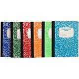 Wide Ruled Composition Notebooks 6 (Pack) Assorted All Different Colors