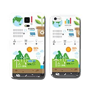 Infographic energy template design . concept vector illustration cell phone cover case Samsung S6