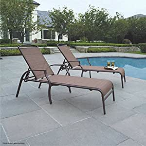 Amazon.com : Pool Lounge Chair Set Outdoor Chaise Patio ...