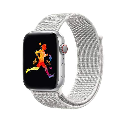 INTENY Compatible for Apple Watch Sport Loop Band, Lightweight Breathable  Nylon Replacement Band Compatible for 28d6f25271