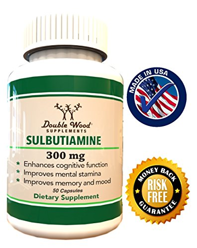 Сульбутиамин | Ноотропный Дополнение | Сделано в США | 300 мг | 50 Капсулы