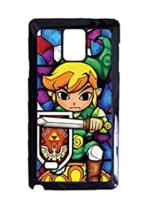 Engood Design Legend of Zelda Stained Glass Case Durable Unique Design Hard Back Case Cover For Samsung Galaxy Note 4 New