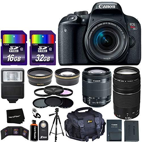 Canon EOS Rebel T7i Digital SLR Camera International Version + 18-55mm