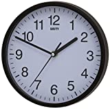 Unity UNSW198 Radcliffe Sweeping Seconds Hand Quiet Wall Clock, Black