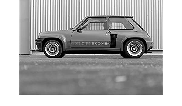 Amazon.com: Poster of Renault 5 Five Turbo 2 T2 Classic Hot Hatch Black and White HD 18 X 12 Inch Print: Posters & Prints