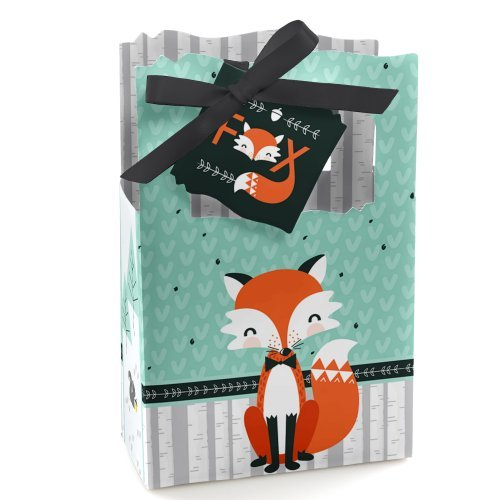 (Mr. Foxy Fox - Baby Shower or Birthday Party Favor Boxes - Set of 12)