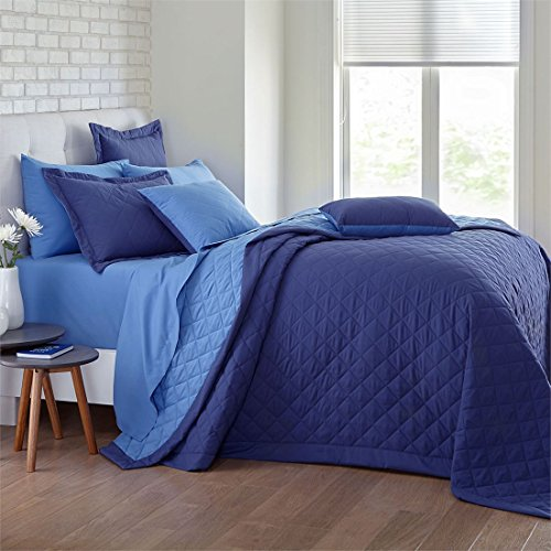 Brylanehome Studio Reversible Quilted Bedspread (Denim Periwinkle,King)