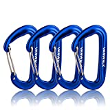 12KN Aluminium Wiregate Carabiners – 4 Pack – Rated 2645 LBS each – 7075 – VANWALK Lightweight Carabiner Clips for Hammock Climbing Rocking (4 orange)