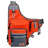 Piscifun Fishing Tackle Bag Fishing Backpack Soft Sports Shoulder Bag - Great as Crossbody Messenger bag and Sling Bags (Orange) Gear And Accessories Piscifun
