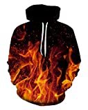 9Yourtime Fire Printed Hoodie Sweatshirt