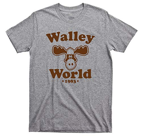 Griswold Vacation T Shirt Walley World 1983 National Lampoon's Vacation 80s Comedy Movie Tee (XL, Sport Gray)