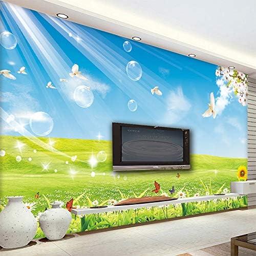 Custom Po Wallpaper Blue Sky White Clouds Meadow Living Room Bedroom Sofa TV Background Large Mural 3D Wallpaper Home Decor: Amazon.es: Bricolaje y herramientas