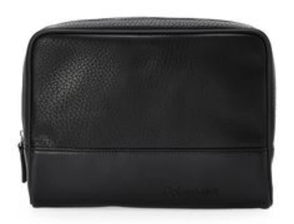 813c69f3ff09b Amazon.com  Calvin Klein Men s Dopp Kit Black Zip Travel Shaving Toiletry  Case Bag  Clothing
