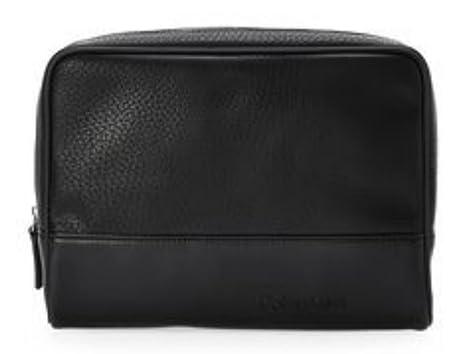 e183b978c0 Image Unavailable. Image not available for. Color  Calvin Klein Men s Dopp Kit  Black Zip Travel Shaving Toiletry Case Bag