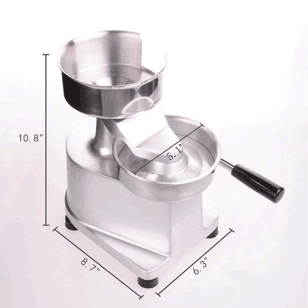 Li Bai Commercial Hamburger Patty Press Maker Stainless Steel Hamburger Press Machine 130mm/5.1'' Includes 500 Patty Papers