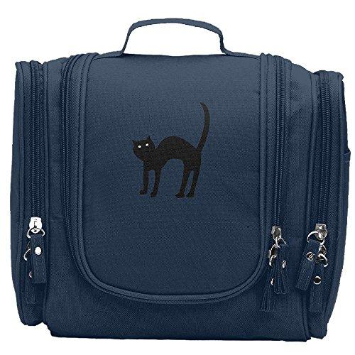 WSXEDC-id Halloween Black Cat Girls Makeup Organizer Bag Designer Hanging Toiletry (Tidy Cats Halloween Litter)