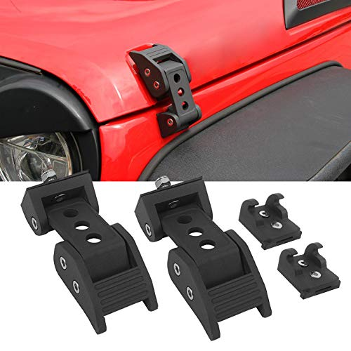 ALAVENTE Stainless Steel Hood Latches Hood Lock Catch Latches Kit for 2007-2017 Jeep Wrangler JK JKU & Unlimited