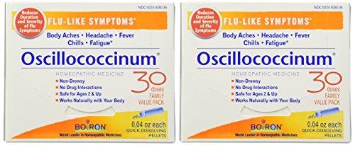 Boiron Oscillococcinum for Flu-like Symptoms Pellets, 30 Count (2 Pack) (Best Medication For Flu Like Symptoms)