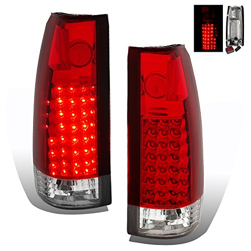 SPPC Red LED Tail Lights G2 Assembly Set For Chevy Full Size - (Pair) Driver Left and Passenger Right Side Replacement