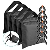 Neewer 4-pack Photographic Sandbag for Light Stands, Tripods and 6-pack 4.3 inches/11 centimeters Muslin Spring Clamps/Clips for Photo Studio Backdrops Backgrounds, Lighting Accessories
