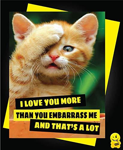 Tarjeta de felicitación de cumpleaños con diseño de gato con ...