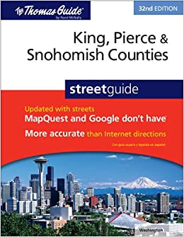 The Thomas Guide King Pierce Snohomish Counties Streetguide Rand