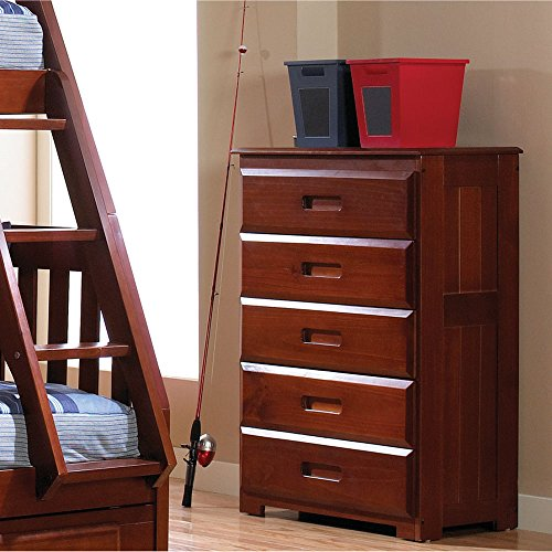 Cambridge 98900CH-DC 5-Drawer in Merlot Children's Chests Furniture, Cherry Cambridge 5 Drawer Chest
