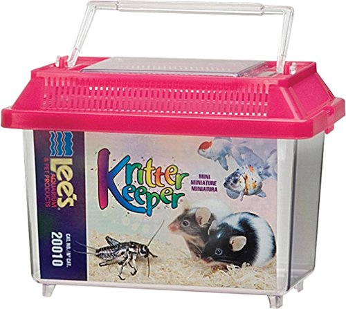 Lee's Kritter Keeper, Mini Rectangle w/Lid (Colors May Vary)