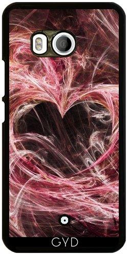 Funda para Htc U11 - Corazón De Color Rosa by Gatterwe