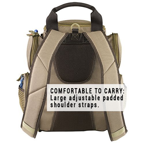 Wild River by CLC WT3503 Tackle Tek Recon Lighted Compact Tackle Backpack with Four PT3500 Trays and Clear, Water-resistant Phone Storage by Custom Leathercraft (Image #5)