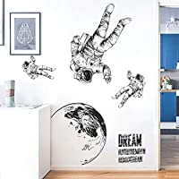 Wall Stickers Wall Decal Decor Space Roaming Art Animal Murals Removable PVC DIY Wall Decoration Paper Poster for Bedroom Kitchen Living Room Nursery Rooms Offices