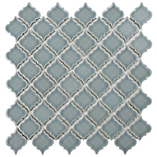 Slate Tiles Porcelain (SomerTile FKOLTR21 Tinge Porcelain Mosaic Floor and Wall Tile, 12.375