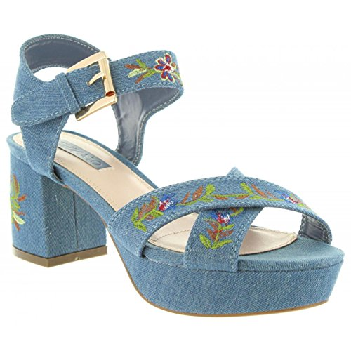 Cloe Mujer Denim CHIKA10 de 03 Denim New Sandalias IBpOwq6