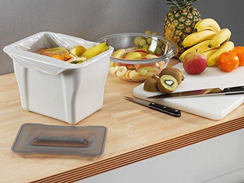 Wesco Kitchen Box, Multifunktions Abfallbehälter, Bio Mülleimer, Abfallsammler zum Hinstellen oder zum Anhängen, 5 Liter