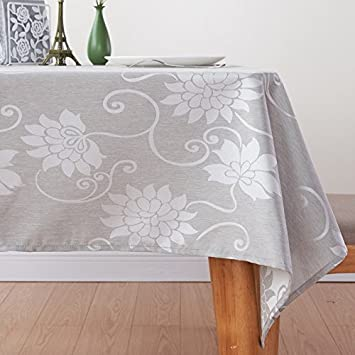 Awesome LEEVAN Rectangle Washable Tablecloth Fabric Modern Waterproof Spill Proof  Table Cover Polyester Home Decorate For