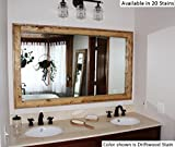 Cheap Renewed Décor Double Vanity Herringbone Reclaimed Wood Mirror in 20 stain colors 60″ x 30″ – Large Wall Mirror – Rustic Modern Home – Home Decor – Mirror – Woodwork – Frame – Stained Mirror