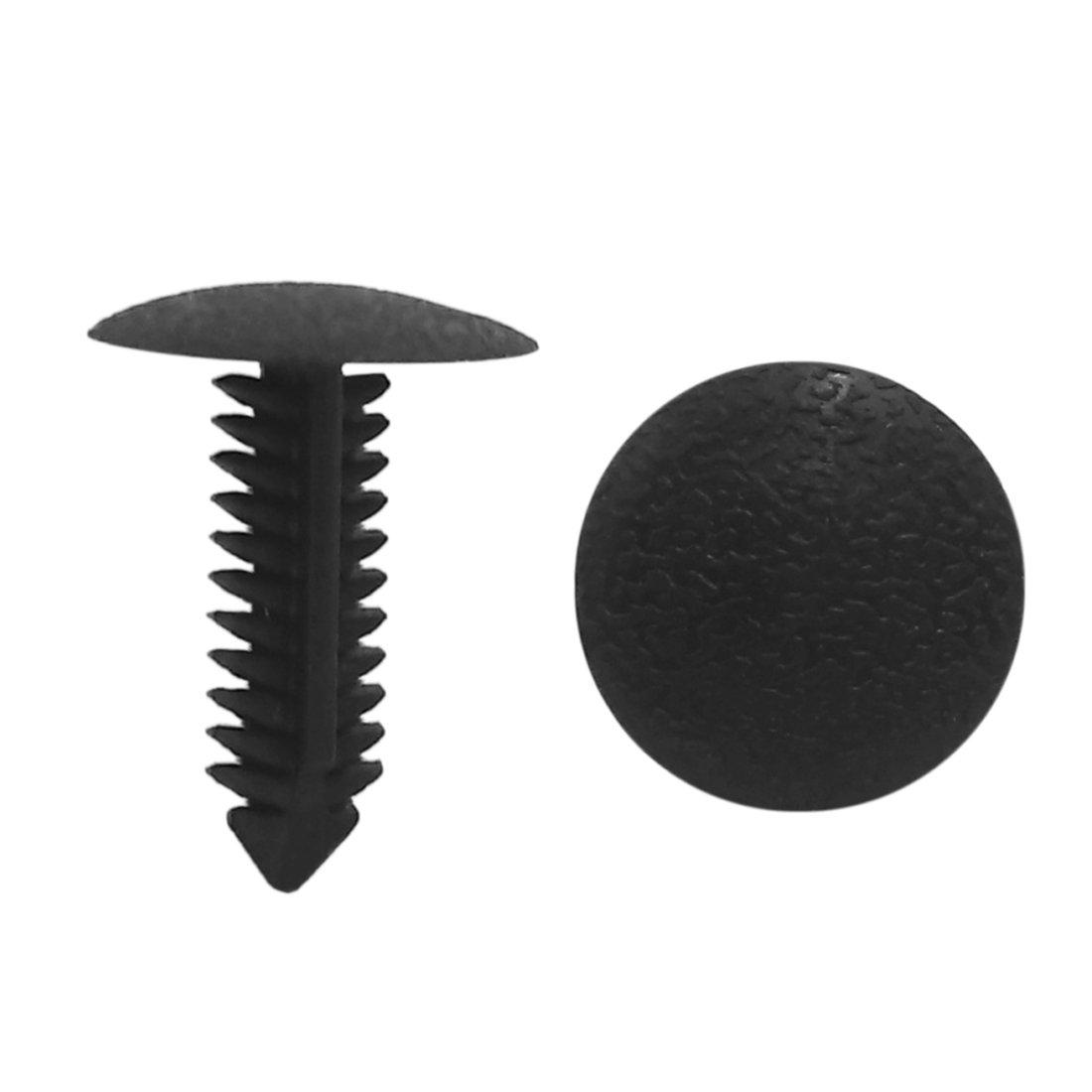 uxcell 50 Pcs 6mm Black Hole Car Door Plastic Rivet Fastener Trim Panel Retainer Clips