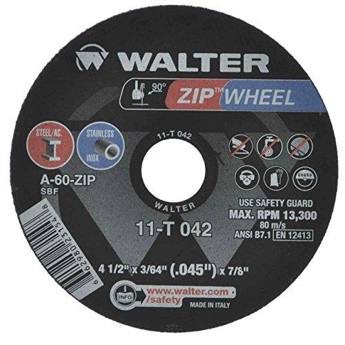 Walter 11T042 4-1/2X3/64X7/8 High Performance Zip Wheels Type 1 A60 Gr ()