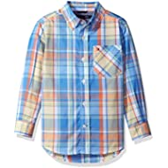 Tommy Hilfiger Boys'Long Sleeve Plaid Woven Shirt
